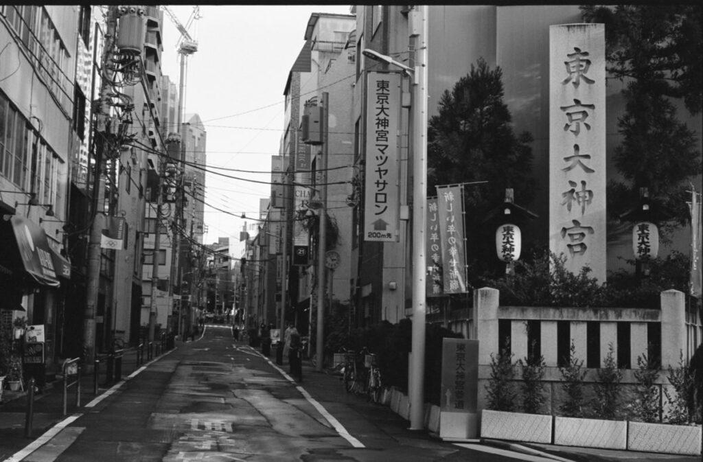 東京大神宮の入り口|Leica M3 + C Sonnar T* 1.5/50 ZM + FKodak TRI-X 400