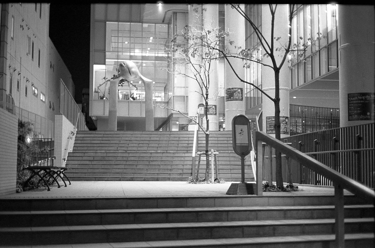 ゾナー、夜の描写が柔らかくていい感じ|LEICA M5 + C Sonnar 50mm F1.5 + Kodak TRI-X 400