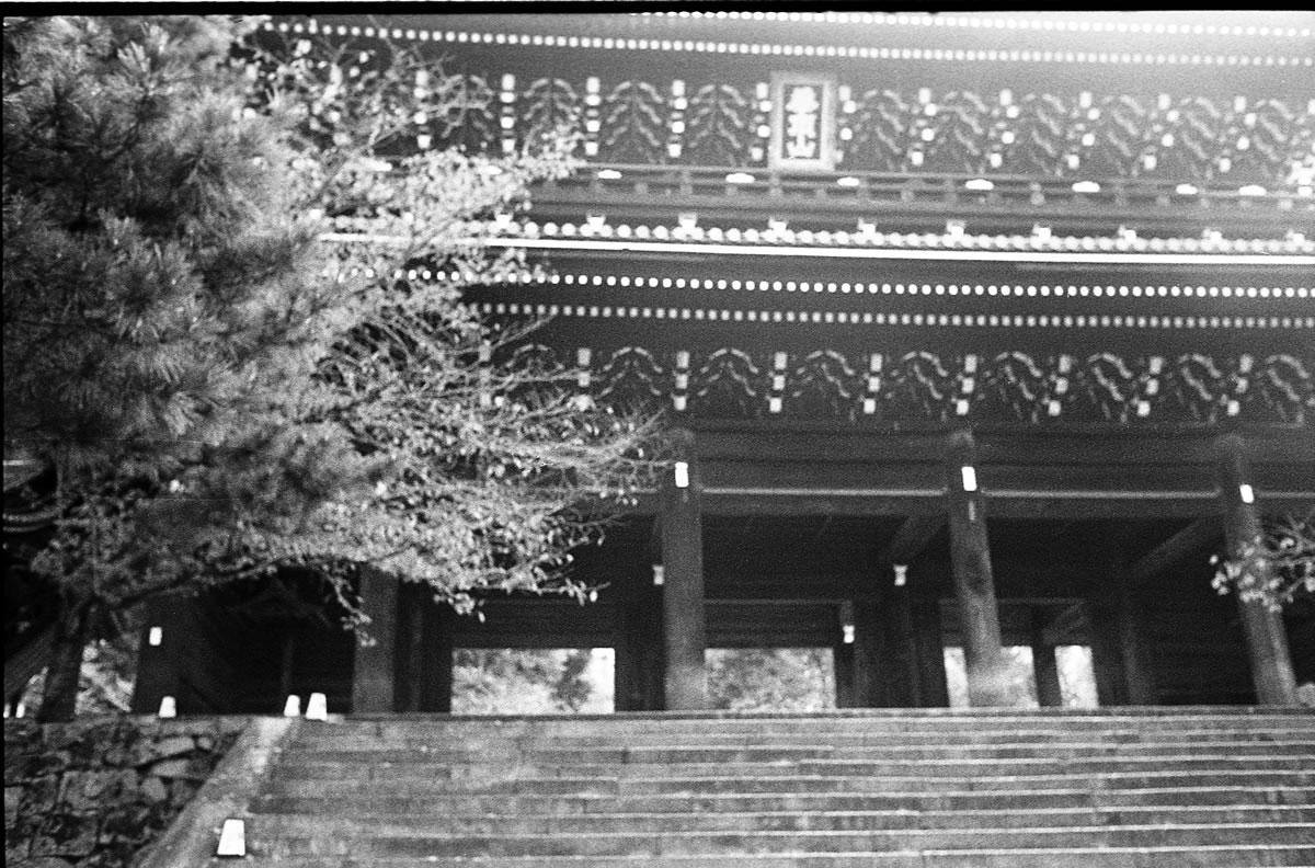 朝の知恩院|LEICA M5 + SUMMILUX 35mm F1.4 + Kodak TRI-X 400