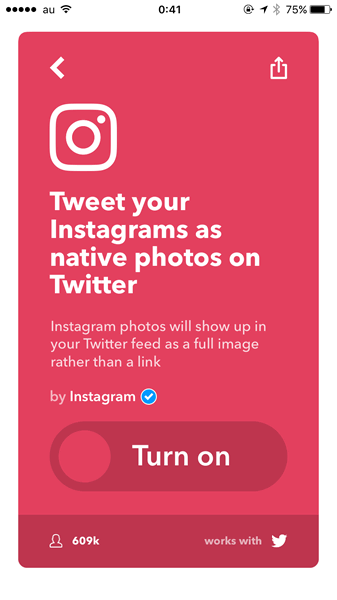 Tweet your Instagrams as native photos on Twitterで検索