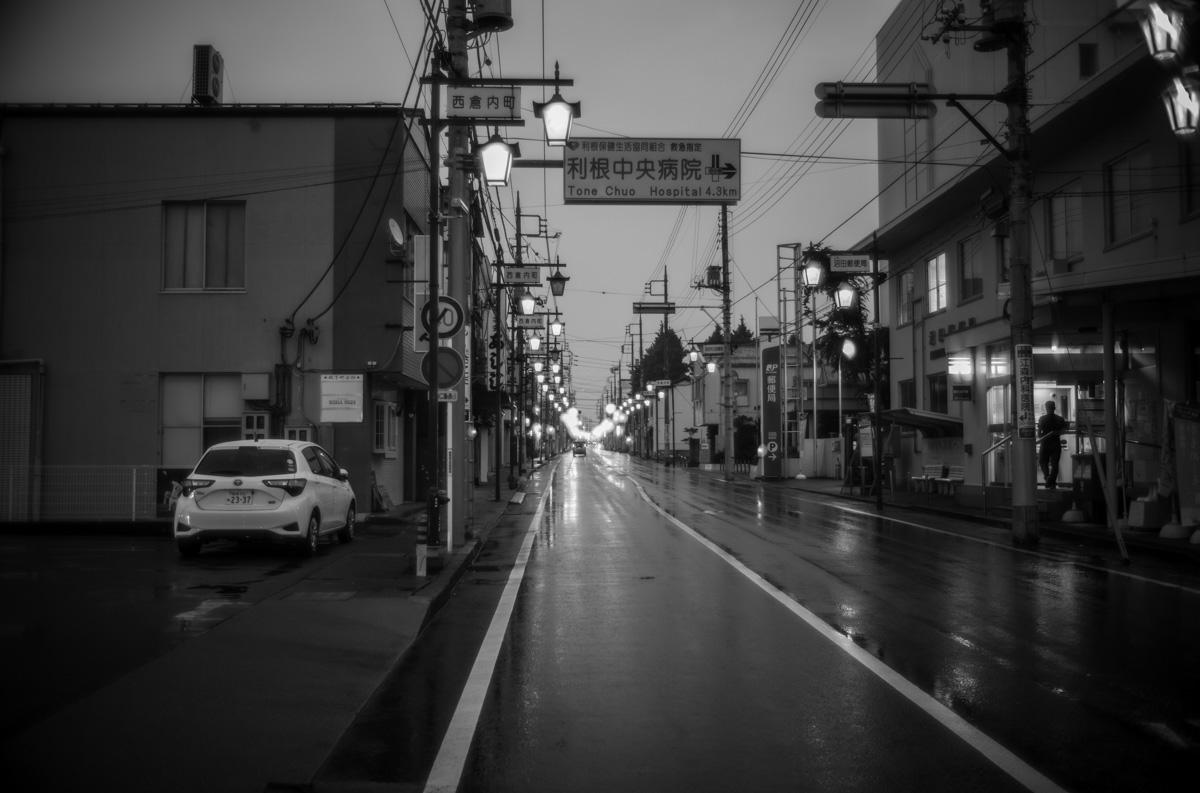 夜の沼田は静か |Leica M10 Monochrome + Summilux 35mm f1.4