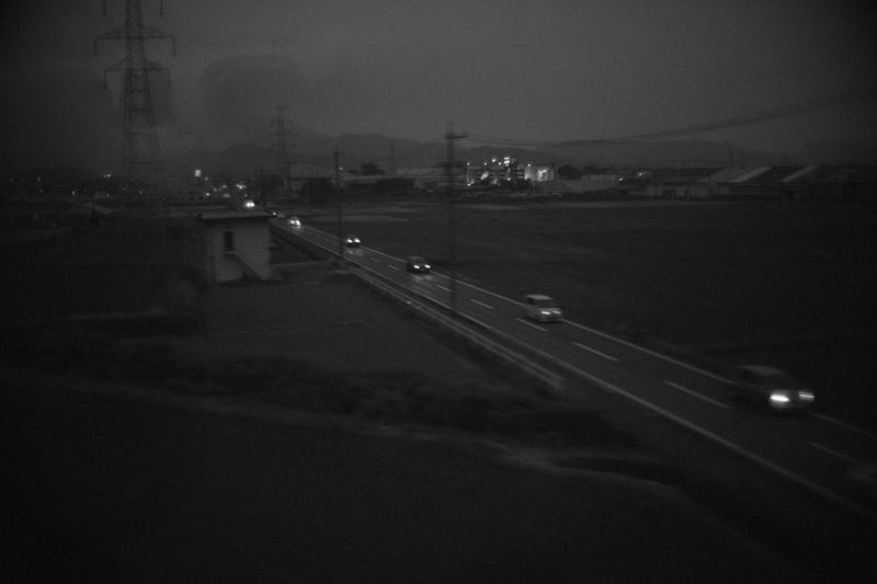 東京に帰る新幹線の車窓から