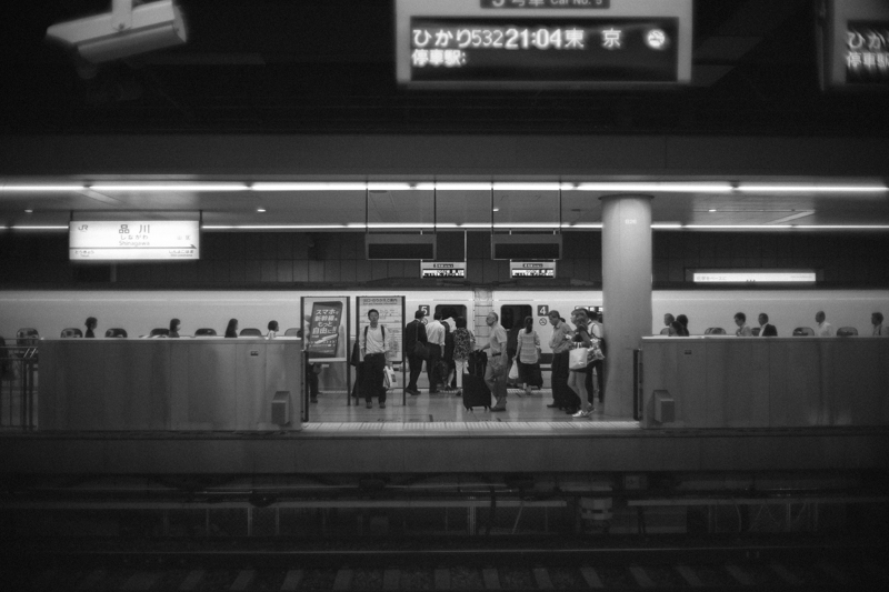 品川駅に戻ってきました