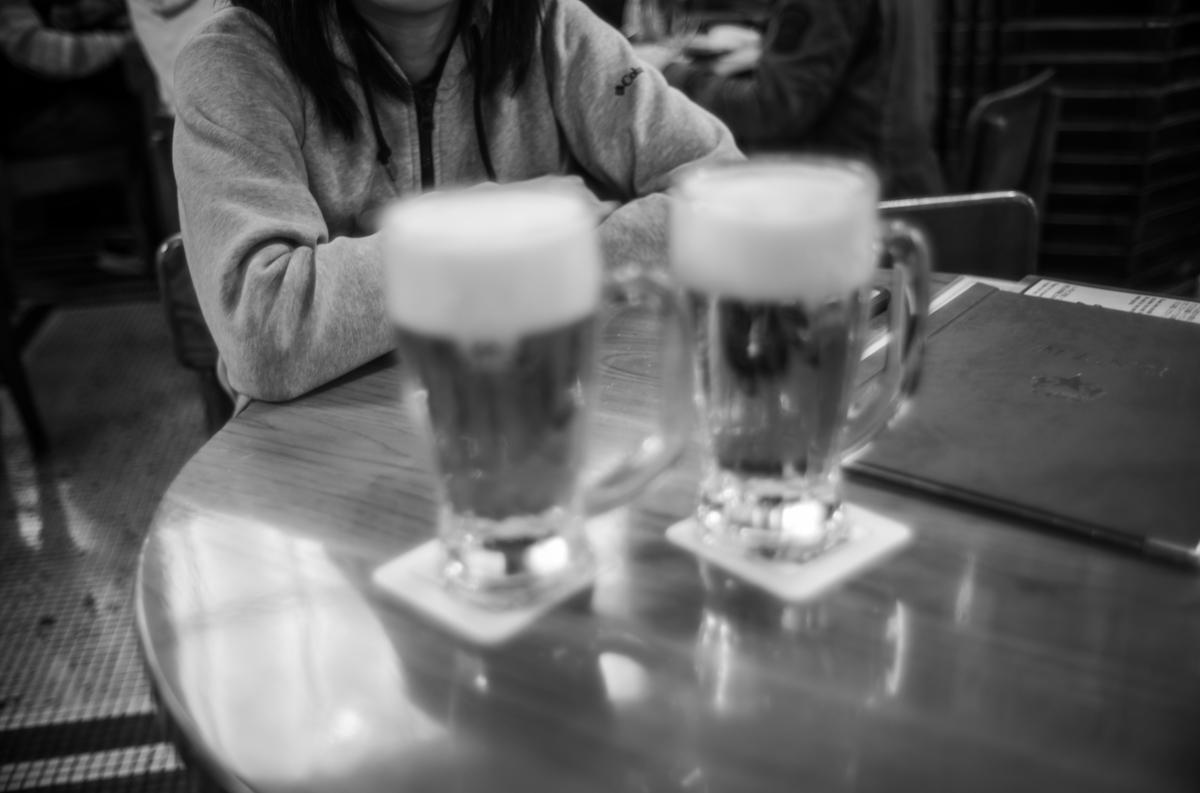 銀座ライオンではしご酒|Leica M10 Monochrome + Summilux 35mm f1.4