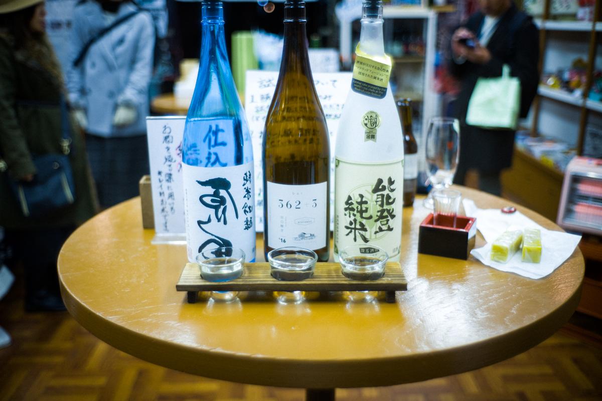 日本酒3種類の試し飲み|Leica M10 + Summilux 35mm f1.4