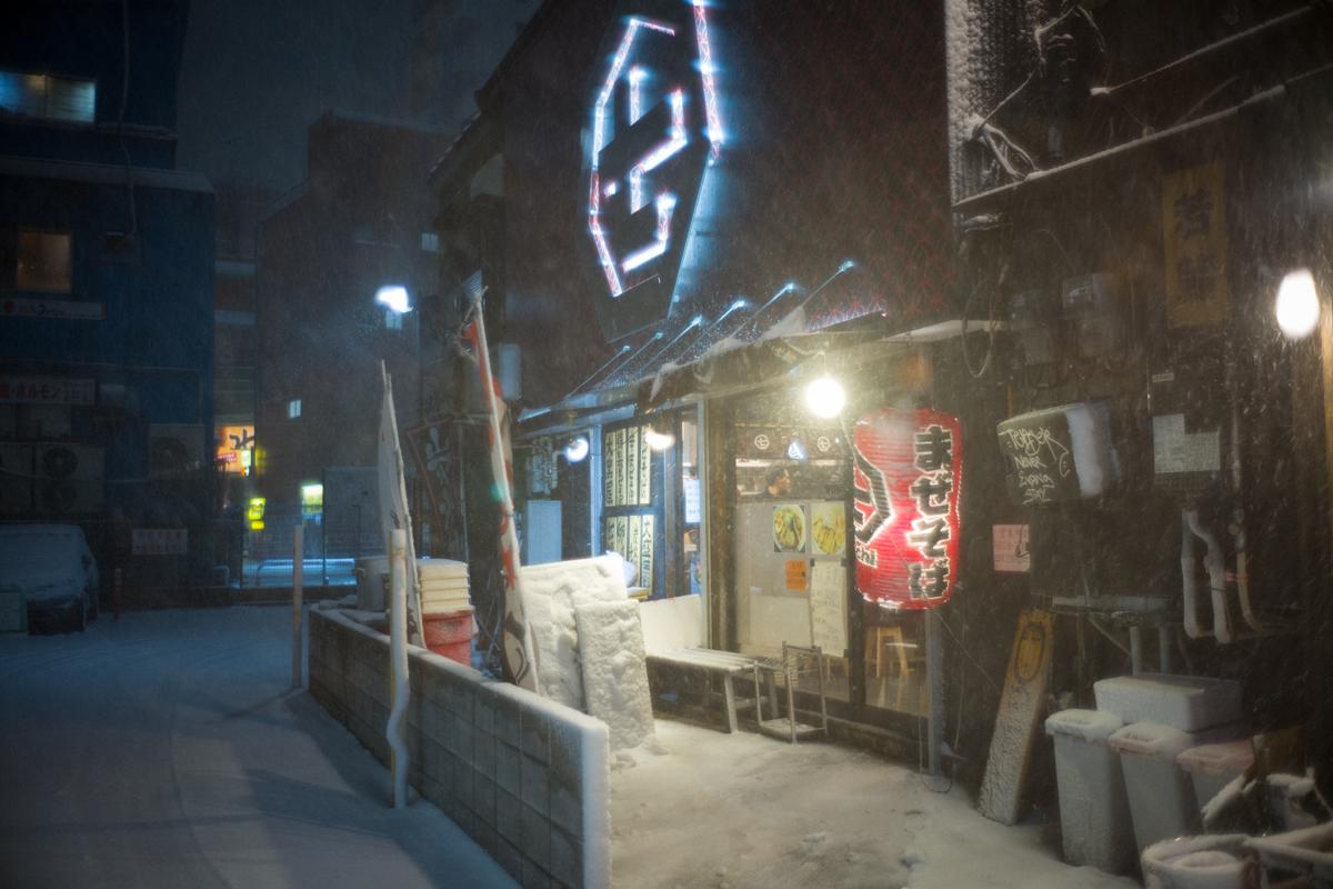 いつものラーメン屋も雪w|Leica M10 + Summilux 35mm f1.4