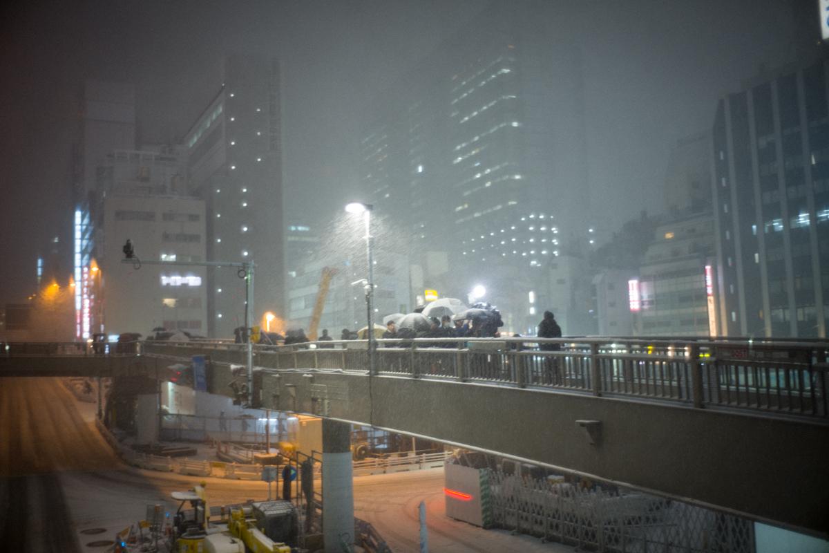 渋谷もなかなかの降雪ぶり|Leica M10 + Summilux 35mm f1.4