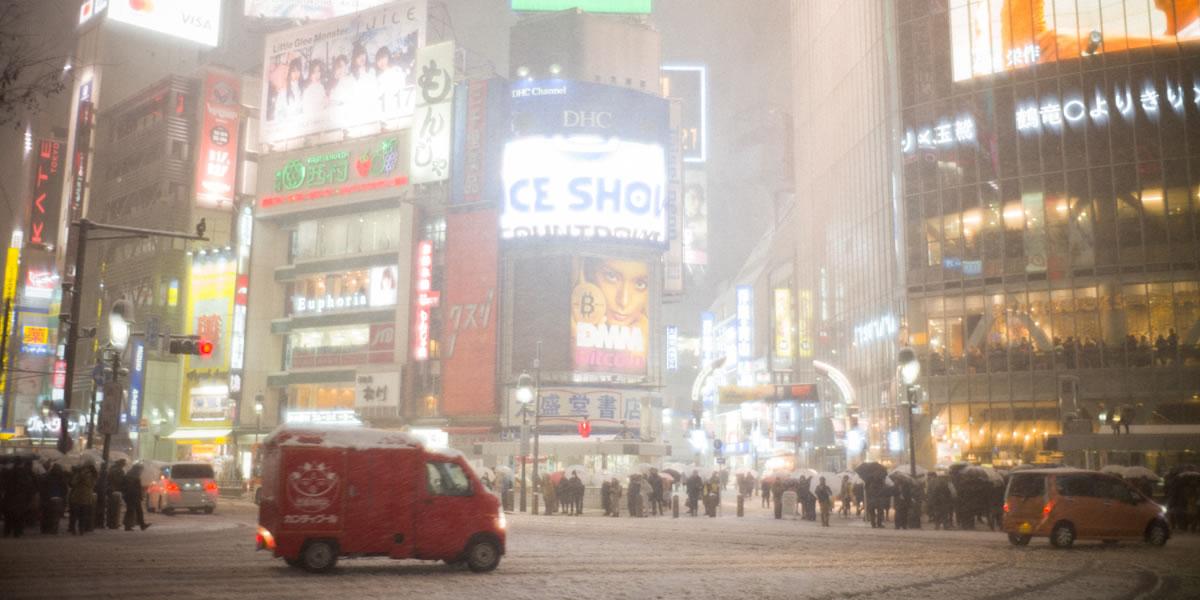 2018年1月、渋谷に雪が降りました|Leica M10 + Summilux 35mm f1.4