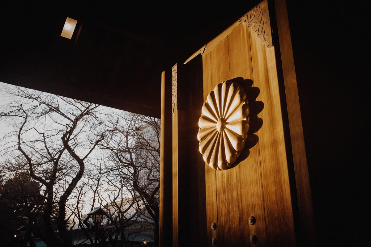 菊の御紋に夕日|Leica M10 + Summilux 35mm f1.4