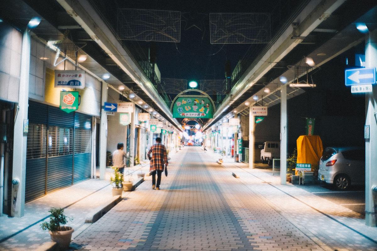 福山駅からちょっと離れたところにある繁華街|Leica M10 + Summilux 35mm f1.4
