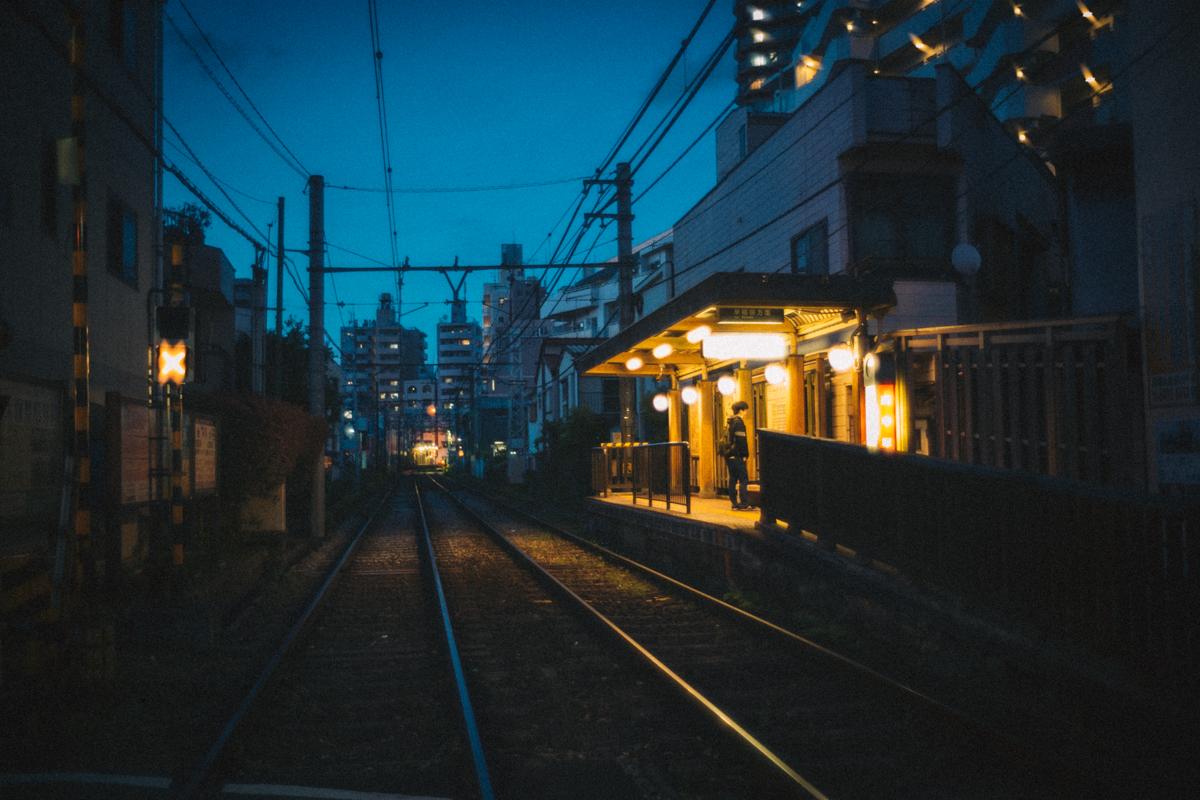 都電荒川線の駅|Leica M10 + Summilux 35mm f1.4