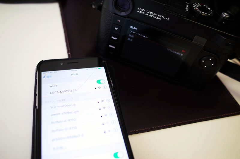 スマホでM10のWi-Fiに接続